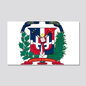 Dominican Republic Coat Of Arms 20x12 Wall Decal