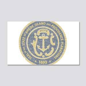 Vintage Rhode Island Seal Wall Decal