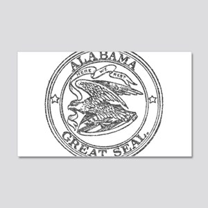 Vintage Alabama State Seal 20x12 Wall Decal