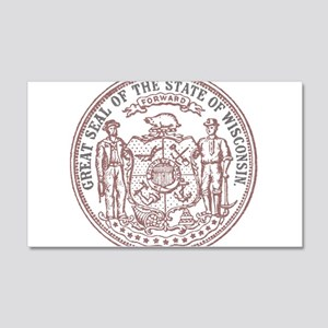 Vintage Wisconsin State Seal Wall Decal