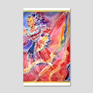 Fiesta, Mexican dancer, 22x14 Wall Peel