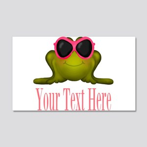 Frog in Pink Sunglasses Custom Wall Decal