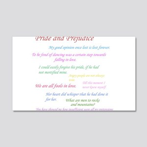 Pride and Prejudice Quotes Wall Decal