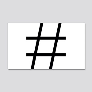 hashtag Wall Decal