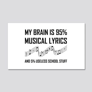 Brain Musical Lyrics Funny Wall Decal