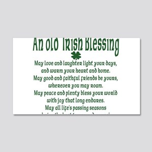 Old irish Blessing 22x14 Wall Peel