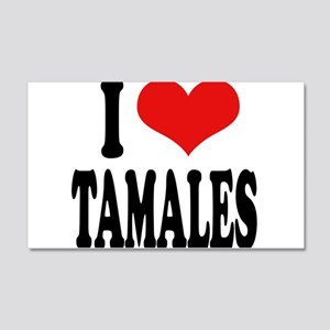 I Love Tamales 20x12 Wall Decal