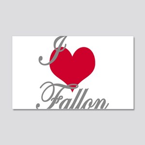 I love (heart) Fallon 20x12 Wall Decal