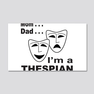 ACTOR/ACTRESS/THESPIAN 20x12 Wall Decal