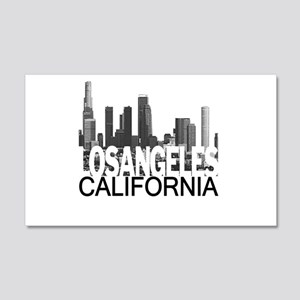 Los Angeles Skyline 22x14 Wall Peel