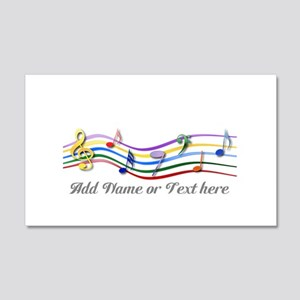 Personalized Rainbow Musical 22x14 Wall Peel