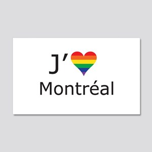 J'aime a Montreal 20x12 Wall Decal