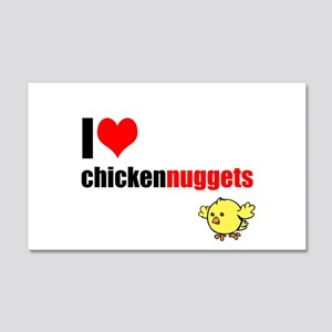 Roblox I Heart Fried Chicken Wall Art Cafepress - roblox chicken nugget decal id
