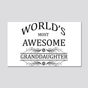 World's Most Awesome Granddaughter 20x12 Wall Deca