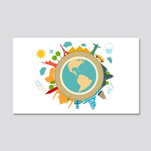World Travel Landmarks 20x12 Wall Decal
