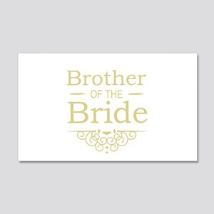 Brother of the Bride gold Wall Sticker