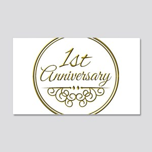 1st Anniversary Wall Decal
