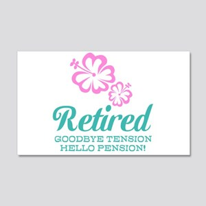 Funny retirement Wall Decal