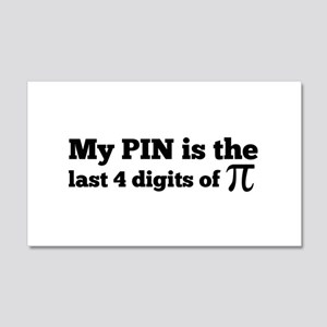 my pin last 4 digits of pi Wall Decal