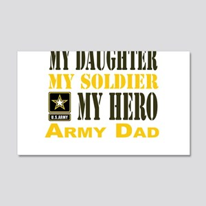 Army Dad Daughter 20x12 Wall Decal