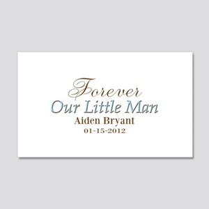 Blue Brown Personalizable Little Man Wall Decal
