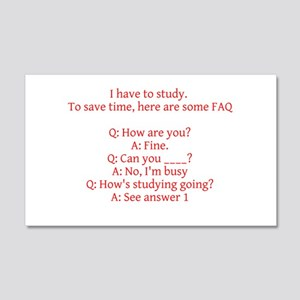 Study Time Wall Decal
