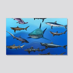 Shark Gathering 20x12 Wall Decal