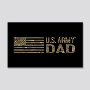 U.S. Army Dad: Camouflage 20x12 Wall Decal