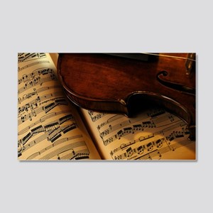 Violin On Music Sheet Wall Sticker