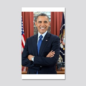 Official Presidential Portrait 20x12 Wall Decal