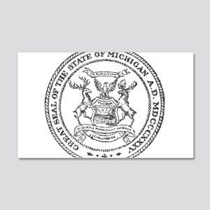 Vintage Michigan State Seal Wall Decal