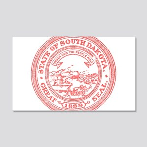 Red South Dakota State Seal Wall Decal