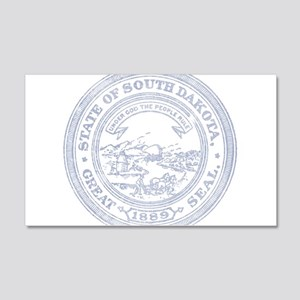 Blue South Dakota State Seal Wall Decal
