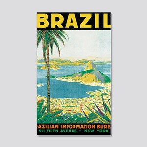 Brazil Travel Poster 20x12 Wall Decal