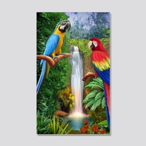 MaCaw Tropical Parrots 20x12 Wall Decal