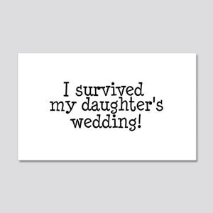 I Survived My Daughter's Wedding! Sticker (Rectang