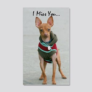 I Miss you chihuahua 20x12 Wall Decal