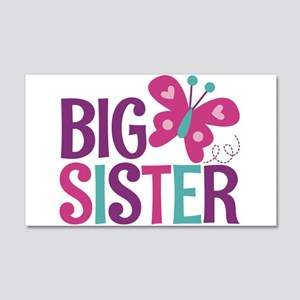 Butterfly Big Sister Wall Decal
