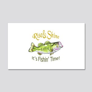 RISE AND SHINE FISHING TIME Wall Decal