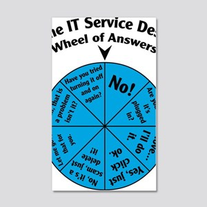 IT Wheel of Answers 20x12 Wall Decal