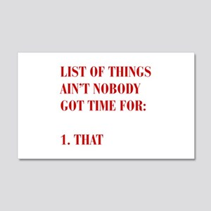 LIST-OF-THINGS-BOD-RED Wall Decal