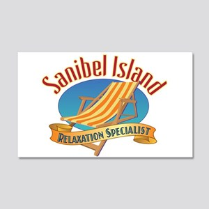 Sanibel Island Relax - 20x12 Wall Decal