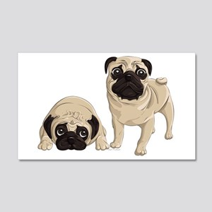 Pugs 20x12 Wall Decal