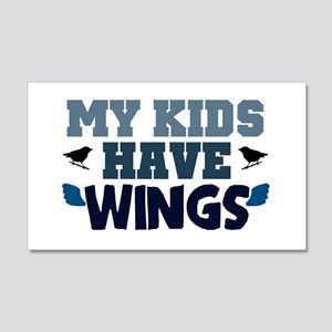 'My Kids Have Wings' 22x14 Wall Peel
