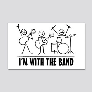 Stickman Band 20x12 Wall Decal