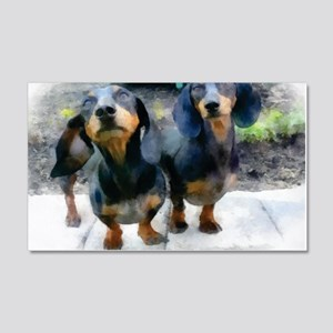 dachshunds 20x12 Wall Decal