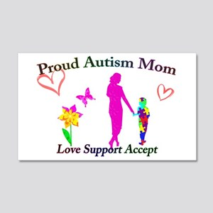 Proud Autism Mom 20x12 Wall Decal