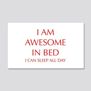 i-am-awesome-in-bed-OPT-RED Wall Decal