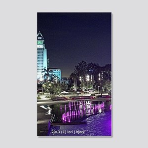 View of Grand Park at night 20x12 Wall Decal