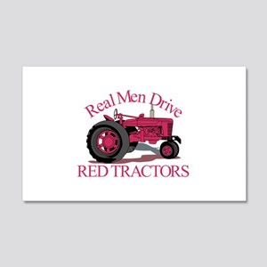 Drive Red Tractors Wall Decal